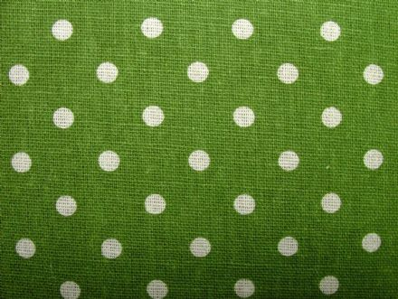 Green Polka Dot Cotton / Linen Curtain, Soft furnishing, craft fabric